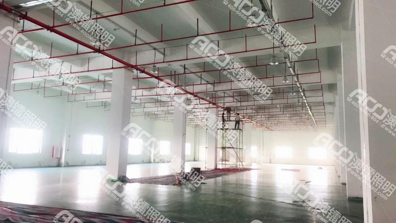佛山市允迪薄膜材料有限公司新厂房车间照明案例