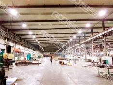 (9米钢结构厂房-100W工矿灯)惠州市方特新材料生产车间照明升级改造