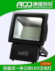 铝盖式一体三防LED泛光灯100W