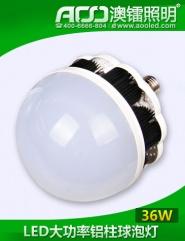 LED大功率铝柱球泡灯36W