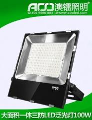 大面积一体三防LED泛光灯100