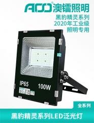 黑豹系列工业型防水防雷LED泛光灯100W