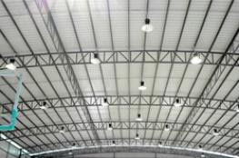 佛山篮球公开赛指定场地-华庆体育馆,首选澳镭LED工矿灯